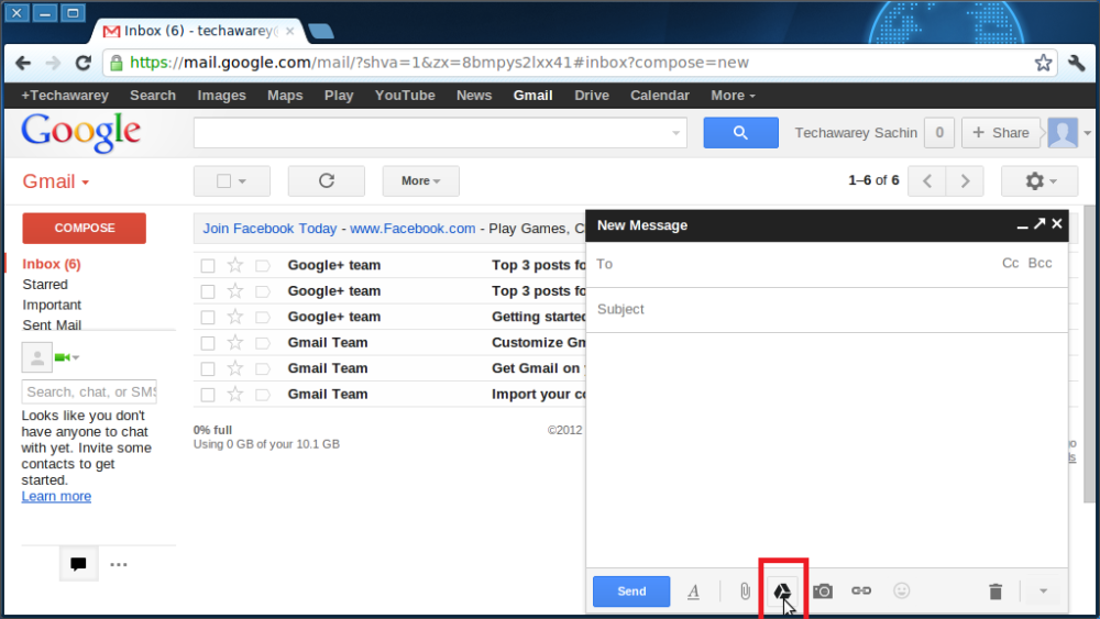 How to do 10 GB Attachment in Gmail (2/6)