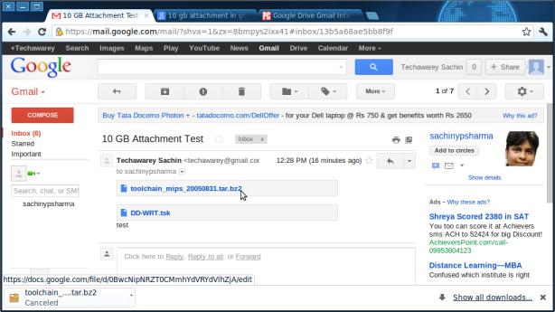 Gmail-Recipient