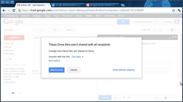 Gmail-sharing check