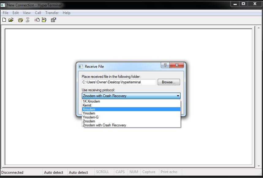 Putty Xmodem File Transfer